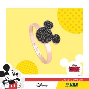 MICKEY MOUSE RING - UBSLifestyle - Perhiasan Emas - Gold Jewelry