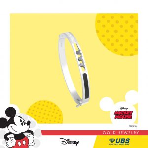 MICKEY MOUSE BANGLE - UBSLifestyle - Perhiasan Emas - Gold Jewelry