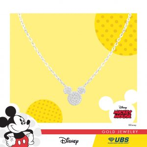 MICKEY MOUSE NECKLACE - UBSLifestyle - Perhiasan Emas - Gold Jewelry