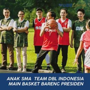 ANAK SMA  TEAM DBL INDONESIA MAIN BASKET BARENG PRESIDEN