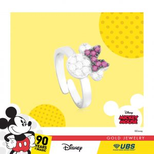 MINNIE MOUSE BABY RING - UBSLifestyle – Perhiasan Emas – Gold Jewelry