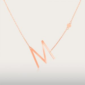 ALPHA BETA NECKLACE - UBSLifestyle - Perhiasan Emas - Gold Jewelry