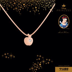 SNOW WHITE NECKLACE - UBSLifestyle - Perhiasan Emas - Gold Jewelry