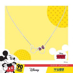MICKEY & MINNIE MOUSE NECKLACE - UBSLifestyle – Perhiasan Emas – Gold Jewelry