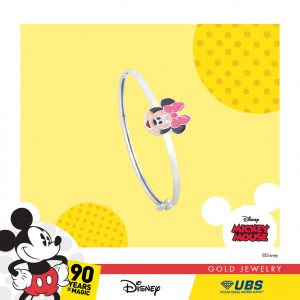 MINNIE MOUSE BABY BANGLE - UBSLifestyle – Perhiasan Emas – Gold Jewelry
