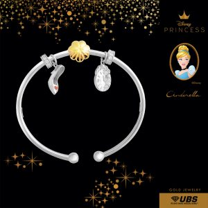 CINDERELLA CHARM BANGLE - UBSLifestyle – Perhiasan Emas – Gold Jewelry