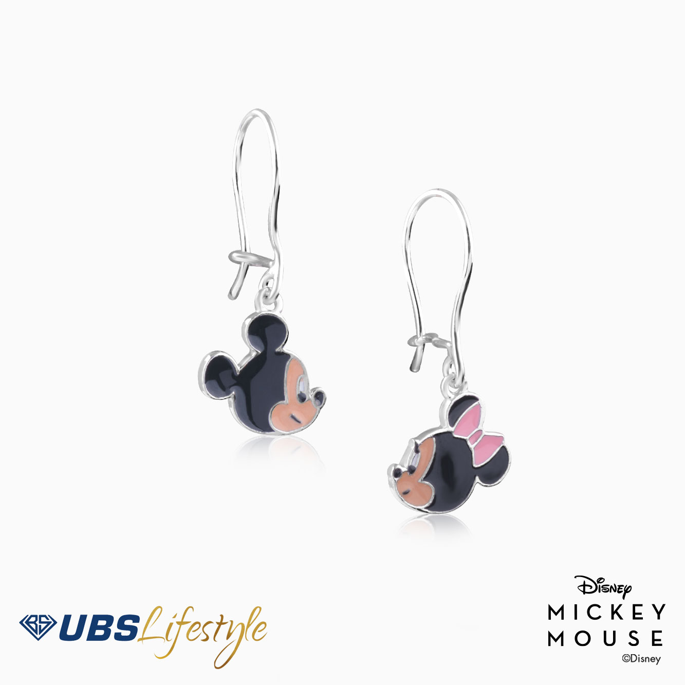 ANTING EMAS DISNEY MICKEY & MINNIE MOUSE
