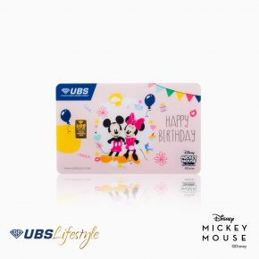LOGAM MULIA UBS DISNEY MICKEY & MINNIE MOUSE HAPPY BIRTHDAY EDITION 0.5 GR