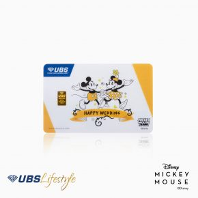 LOGAM MULIA UBS DISNEY MICKEY & MINNIE MOUSE HAPPY WEDDING EDITION 0.5 GR