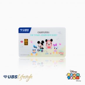 LOGAM MULIA UBS DISNEY MICKEY & MINNIE MOUSE NEW BORN EDITION 0.5 GR