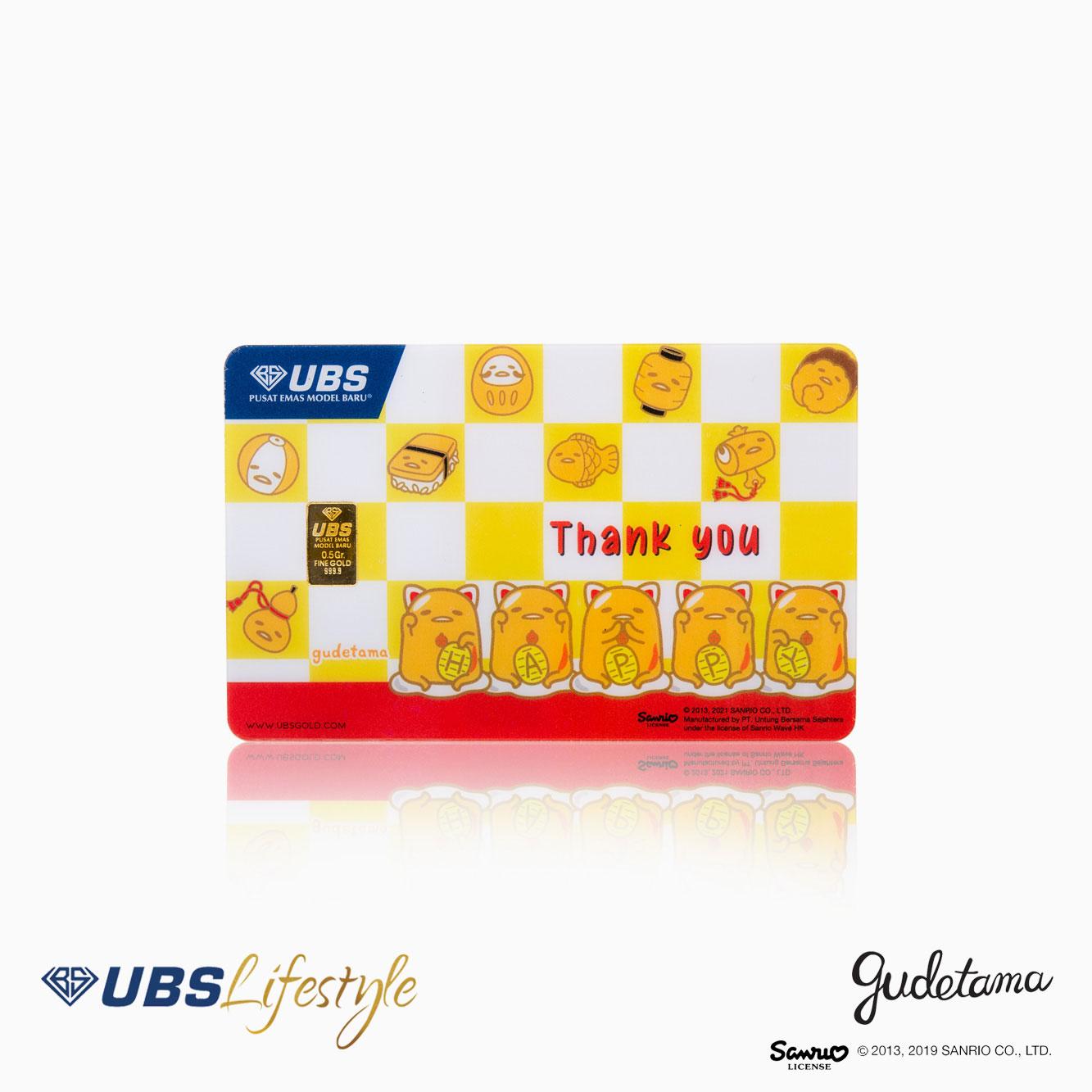 LOGAM MULIA UBS SANRIO GUDETAMA THANK YOU EDITION 0.5 GR