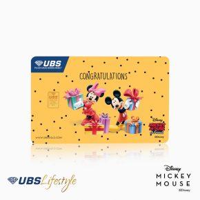 UBS Logam Mulia Disney Mickey & Minnie Mouse Congratulation 0.25 Gr