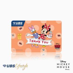 UBS Logam Mulia Disney Minnie Mouse & Daisy Duck Thank You 0.25 Gr
