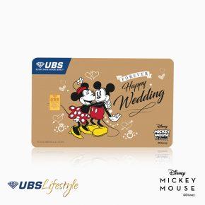 UBS Logam Mulia Disney Mickey & Minnie Mouse Happy Wedding 0.25 Gr