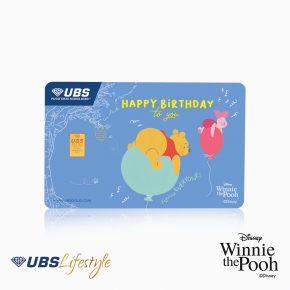UBS Logam Mulia Disney Winnie The Pooh Happy Birthday 0.25 Gr