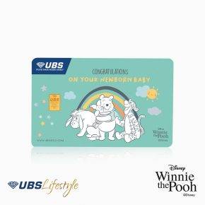 UBS Logam Mulia Disney Winnie The Pooh New Born 0.25 Gr